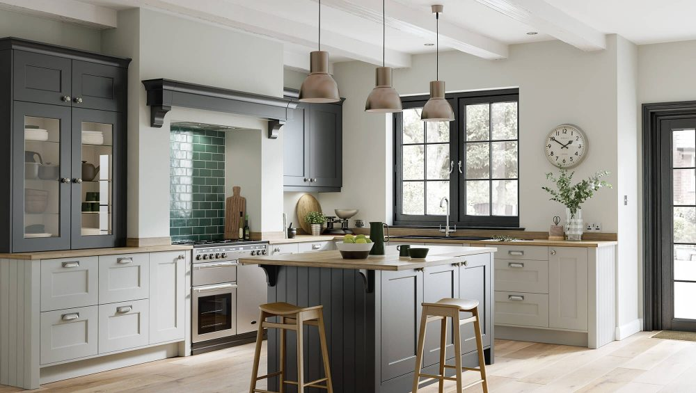 Florence kitchen Graphite and Light Grey