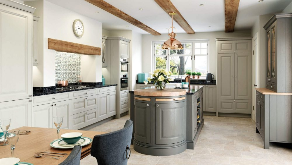 Jefferson Kitchen Stone and Gun Metal Grey