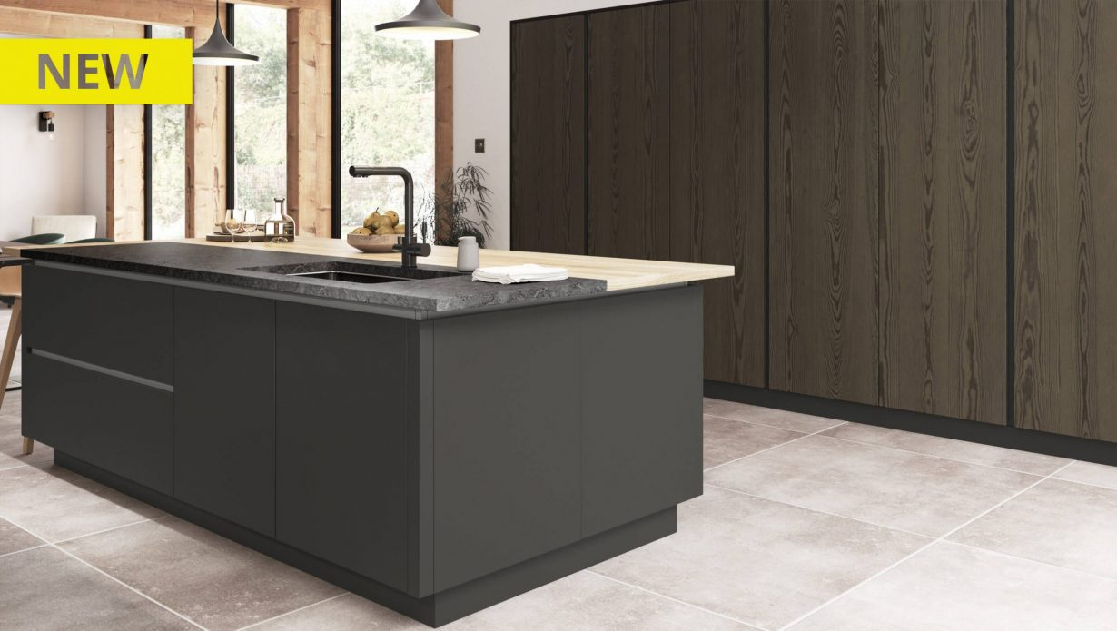 Kelso stained Truffle Grey and Zola Matte Graphite - NEW