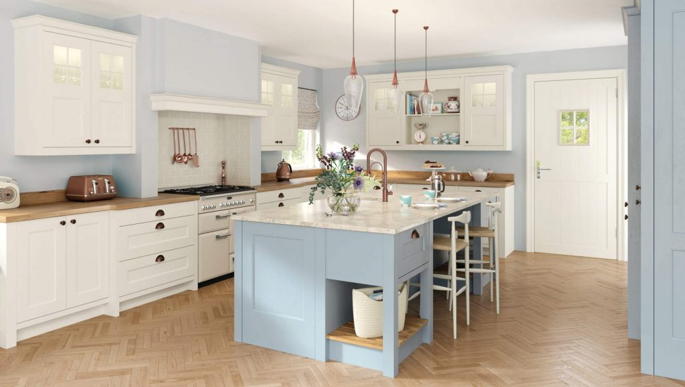 Wakefield kitchen Porcelain and Pantry Blue